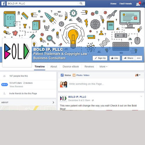 Bold facebook landing page