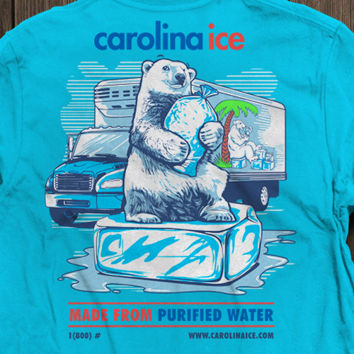 T-shirt Design for CAROLINA ICE COMPANY!!!