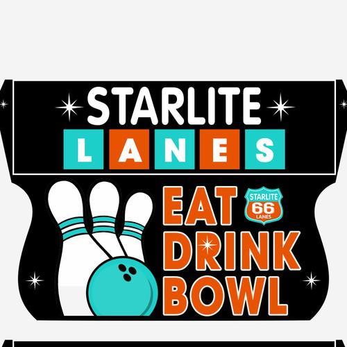 Starlite Bowling Road SIgn