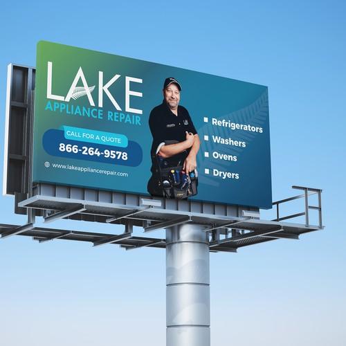 Lake Appliance Repair Banner Design