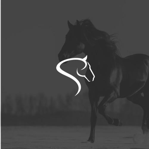 Simple logo design for equine