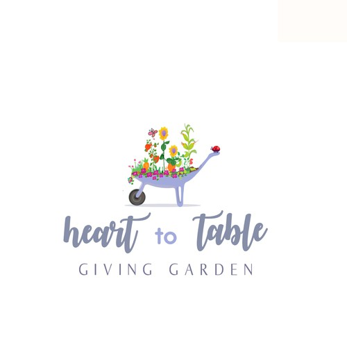 cute concept logo for a giving person :)