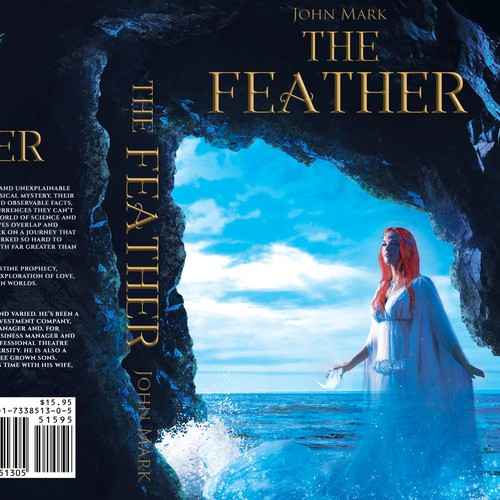 "Book cover design for ""The Feather"" :)"