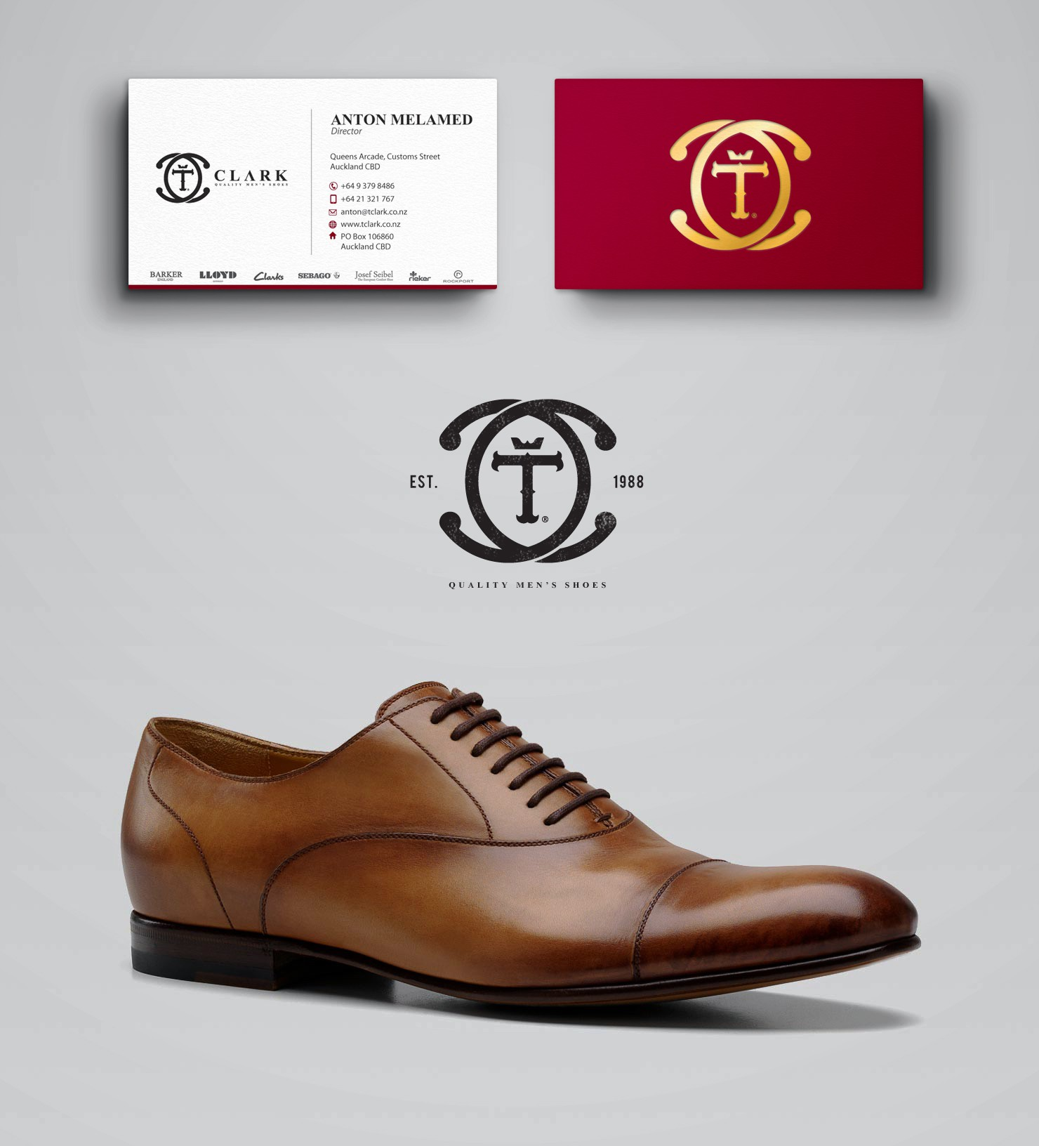 New logo and business card design for country's oldest men's specialized footwear store