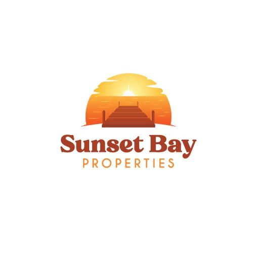 Sunset Bay Properties logo design concept