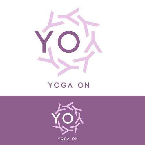Create a vintage floral hot yoga studio logo for YO