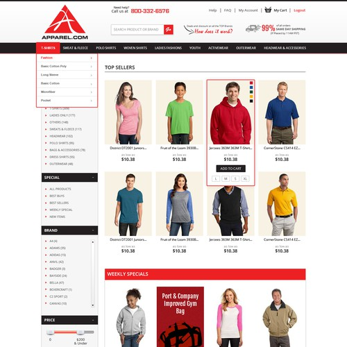 Create an Apparel eCommerce Website Design