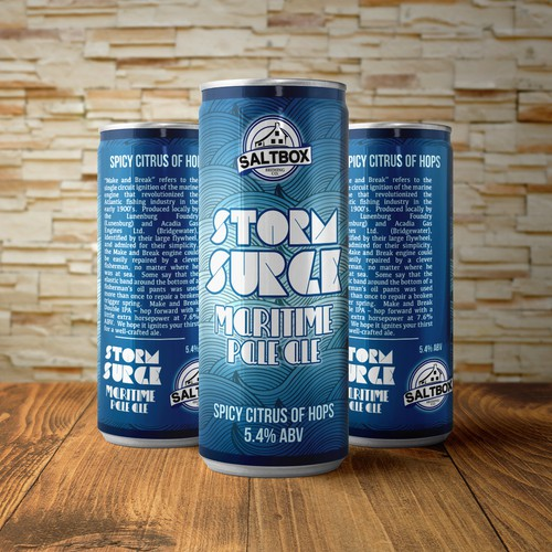 Storm Surge beer can label