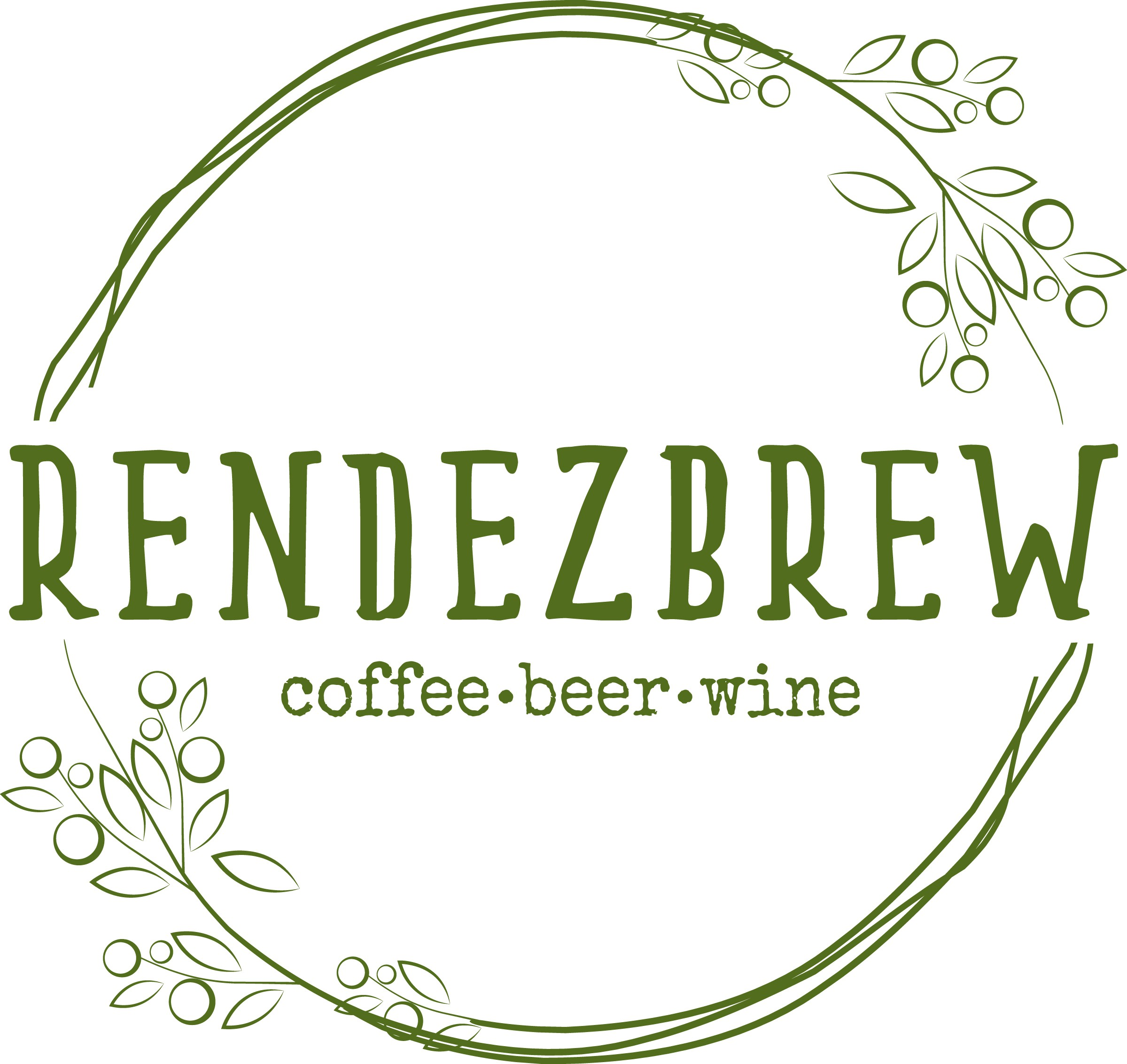 """Need a hipster/boho logo for our coffee shop/wine bar """"Rendezbrew""""!"""