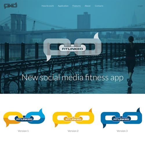 Logo for media fitness app