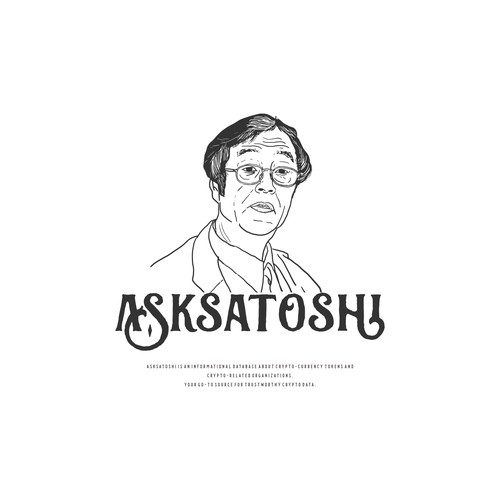 Line art logo concept for Asksatoshi