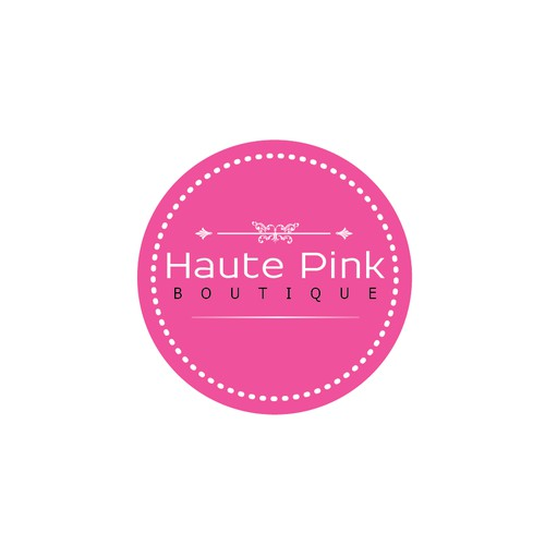 Create a capturing sign/logo for a trendy, haute boutique (Haute Pink).