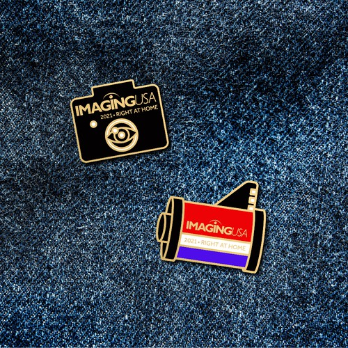Fun & memorable pin for a photography conference