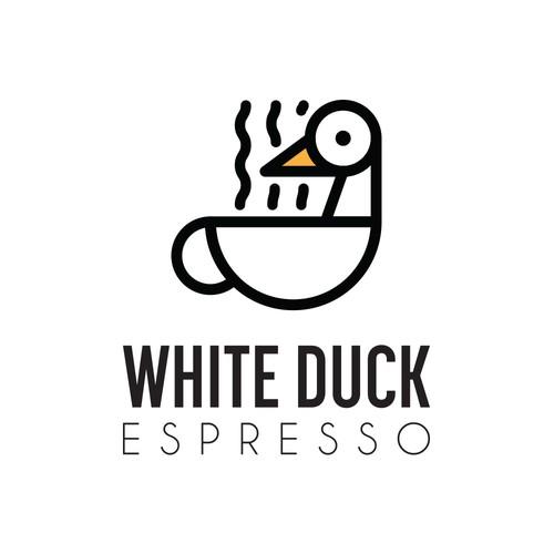 White Duck Espresso Logo Concept