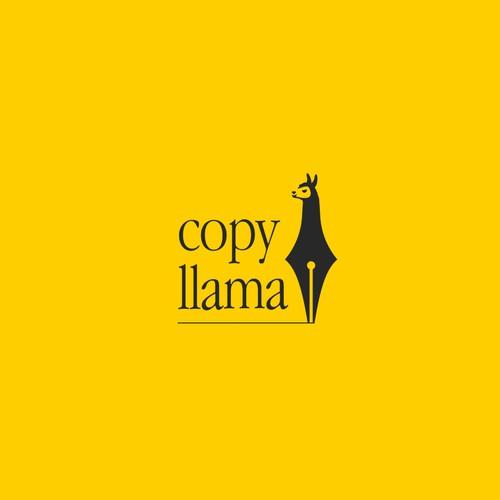 Copy Llama logo design