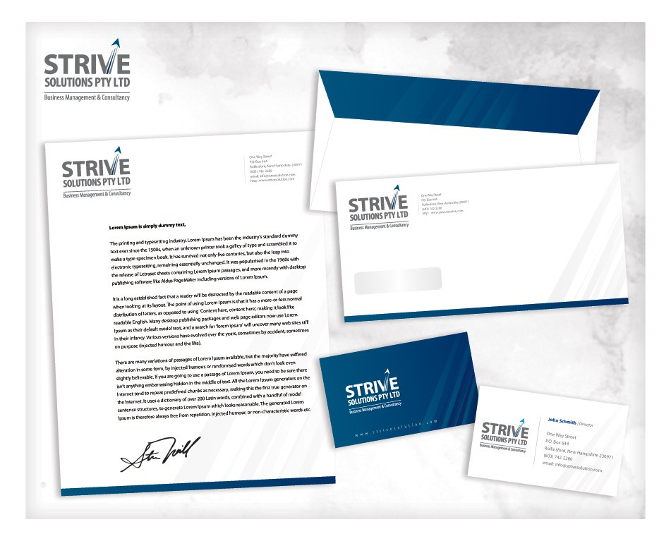 Business Card & Stationery wanted for Strive Solutions Pty Ltd