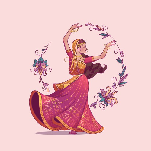 Indian Princess Illustration