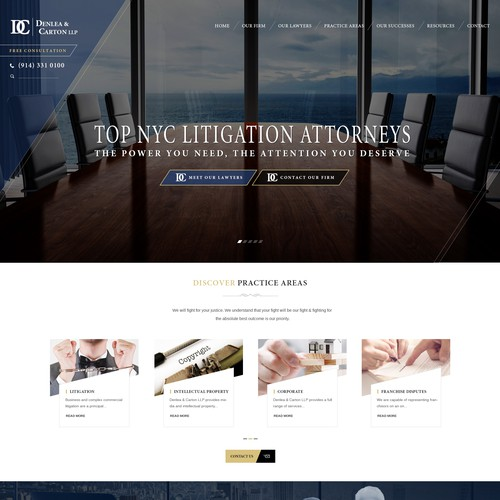 Sleek Professional Homepage for Personal Injury