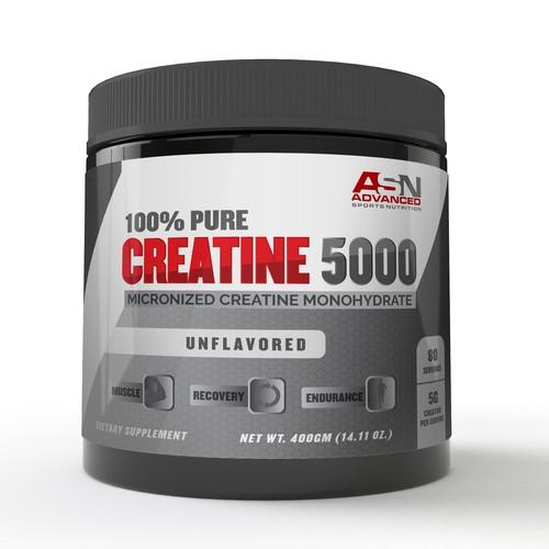 Label Design for Creatine Powder Supplement