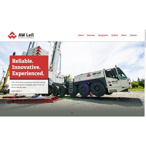 Squarespace Website for a construction company