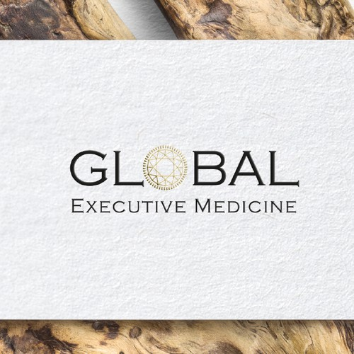 Logo and Business Cards For a Unique Global Executive Medicine Professional Services