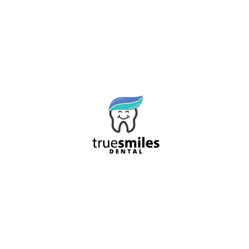 Smiling tooth logo for a dentist
