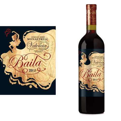 Wine Label - A La Vida Wines & Spirits