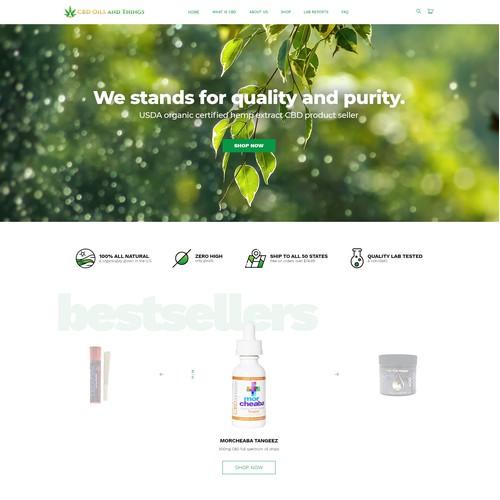 web page design concept for CBD online store