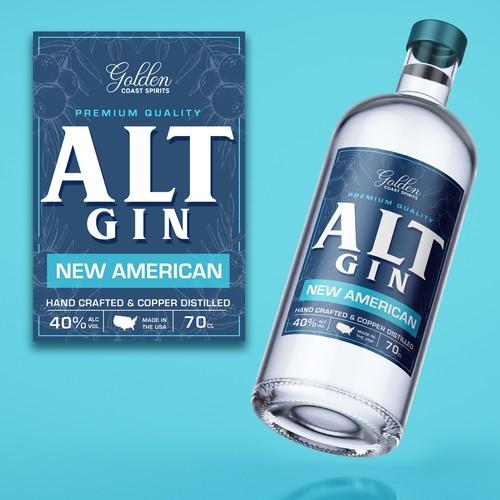 Gin bottle design.