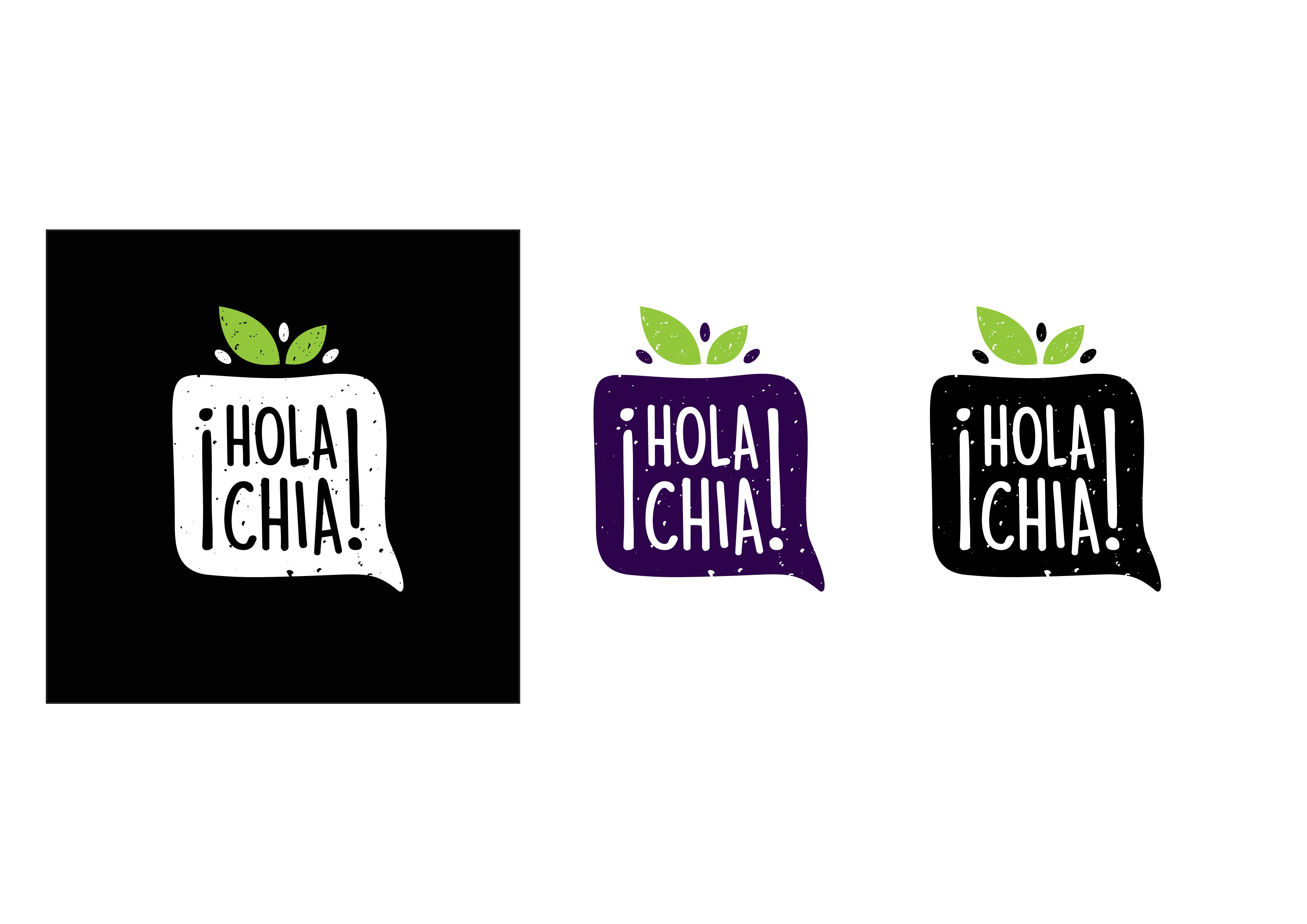 Create an eye-catching logo for a young company that makes super healthy vegan drinks with Chia.