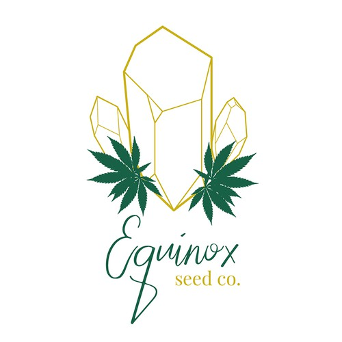 """Witchy"" logo concept for cannabis industry"