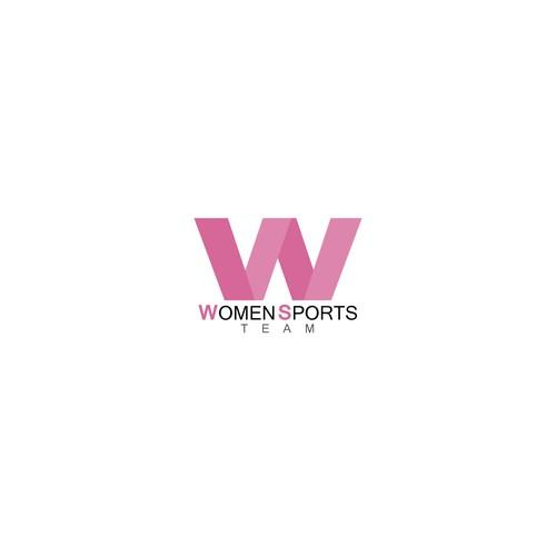 Women sports logo