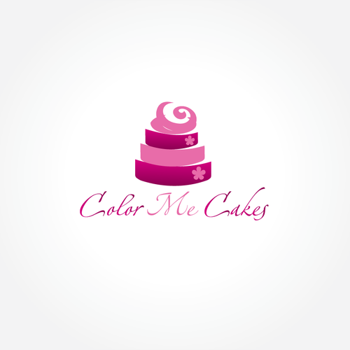 Create the next logo for Color Me Cakes