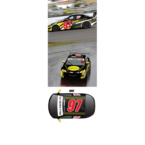 Omni Race Car Branding