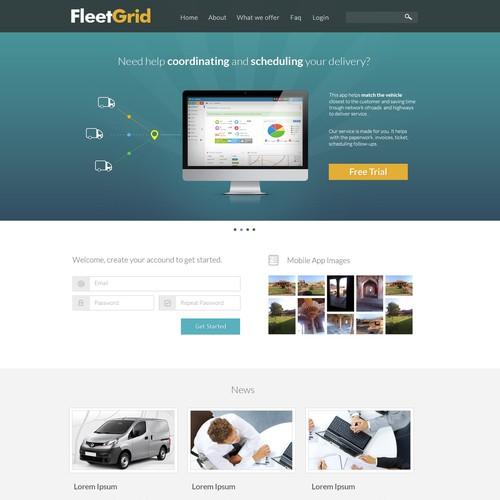 FleetGrid.com landing page