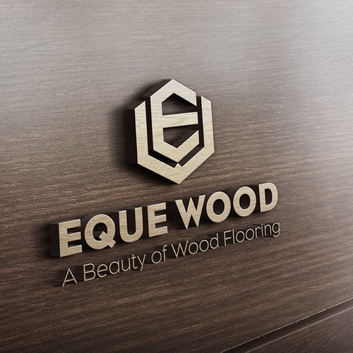 Bold masculine logo for Eque Wood