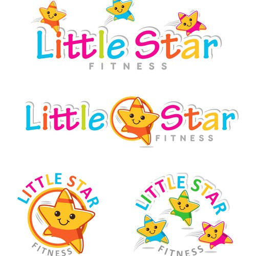 Create a unique logo that is fun, bright, sporty and eye-catching for Little Star Fitness.