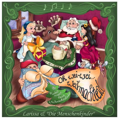Eine Illustration/Grafik für Kinder-Weihnachts-CD (betrifft nur dasFrontbild) / One illustration for Kids-Christmas CD