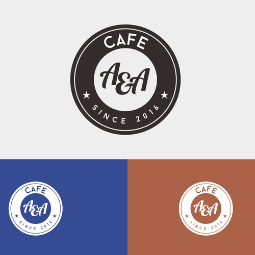 Bold clasic logo for A&A cafe