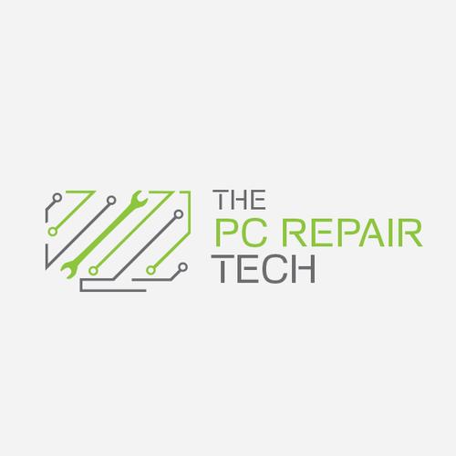 Modern logo for PC Repair company