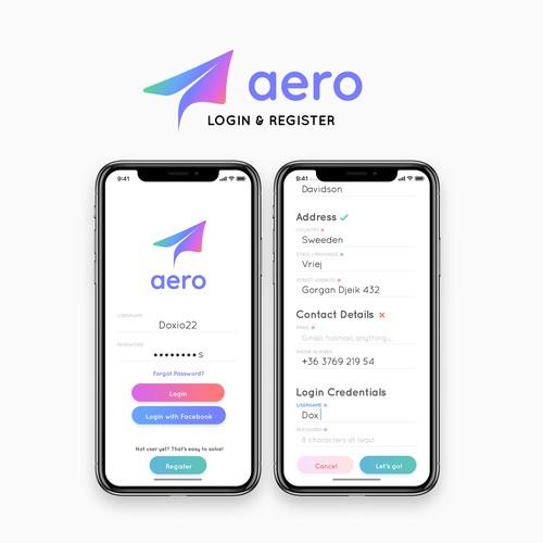 Aero App Concept - Login & Register