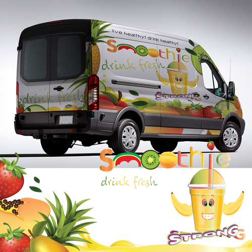 Van wrap for a smoothie company