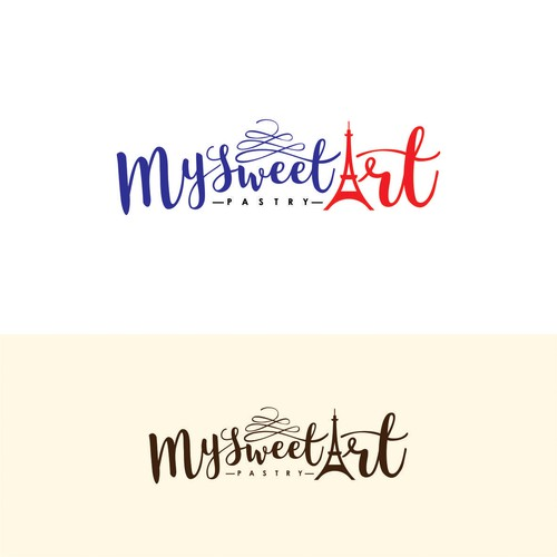 Logo concept for a french pastry company