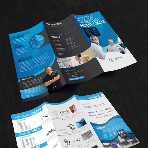 Optima Surgical Brochure design