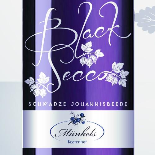 Spritziger Black Secco -Schwarze Johannisbeere- möchte frisches Design