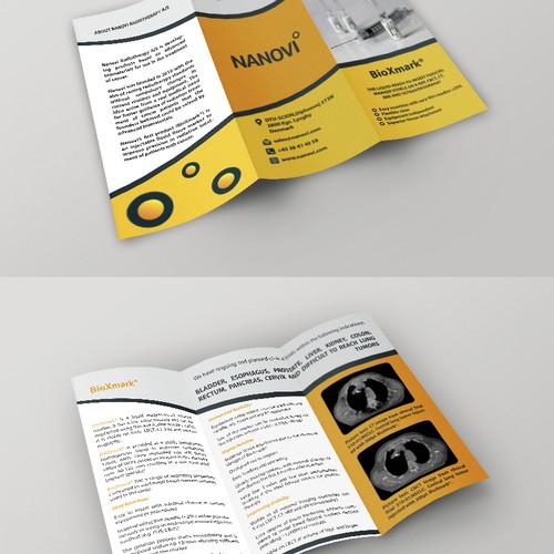 Create a capturing brochure for Nanovi!