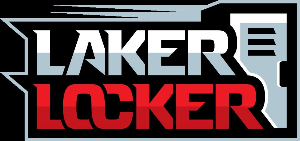 Design a Sports theme logo for Laker Locker.  Your one stop custom apparel shop.