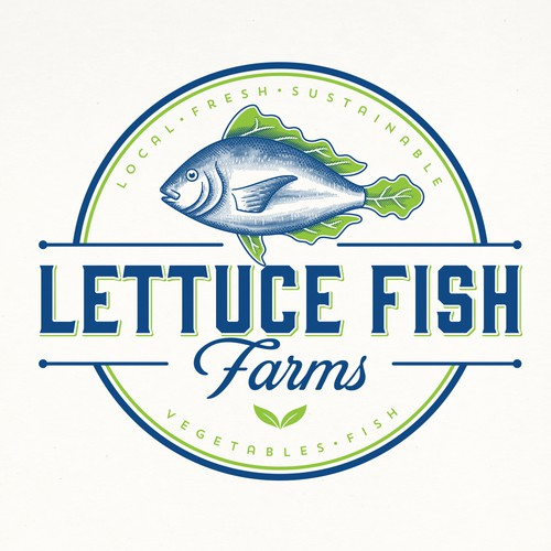 LETTUCE FISH FARM LOGOS