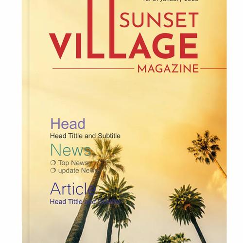 Sunset village magazine cover