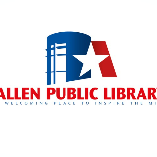 Create a fresh logo for a public library